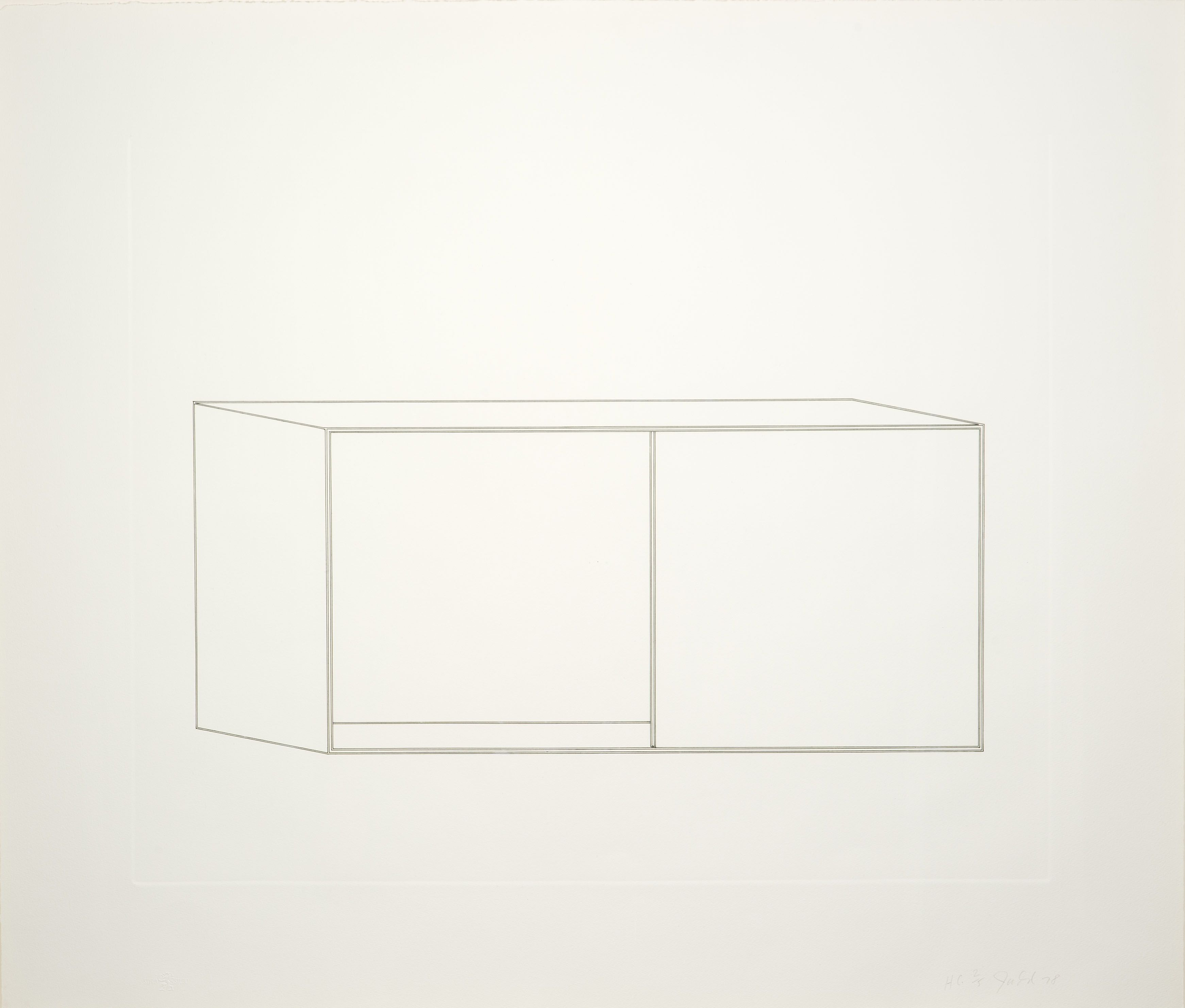 Donald Judd, Untitled, H.C. 2/5, 1977-78, Etching in black on paper, 29 1/4 x 34 1/4 inches