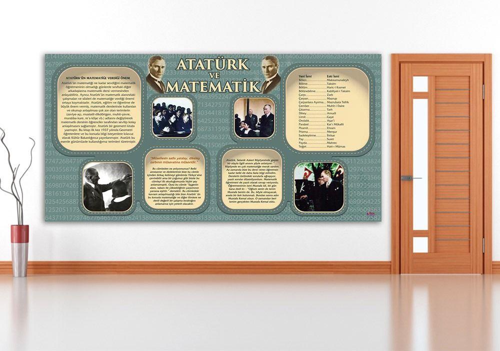 Ataturk Ve Matematik Okul Posteri Matematik Posteri Nasil