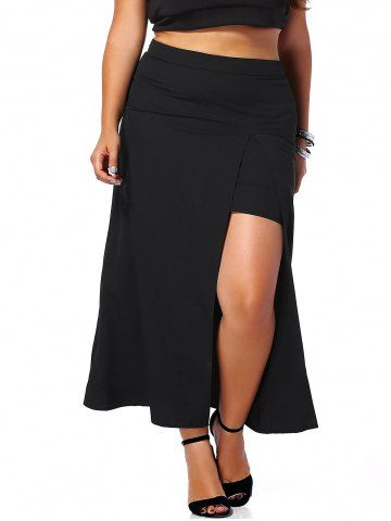GET $50 NOW | Join RoseGal: Get YOUR $50 NOW!http://m.rosegal.com/plus-size-bottoms/alluring-plus-size-high-slit-women-s-black-skirt-551094.html?seid=8609367rg551094