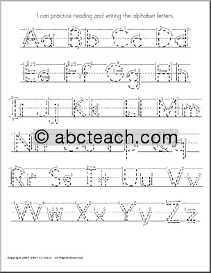 Free Worksheets : how to write alphabet letters for kids How To ...