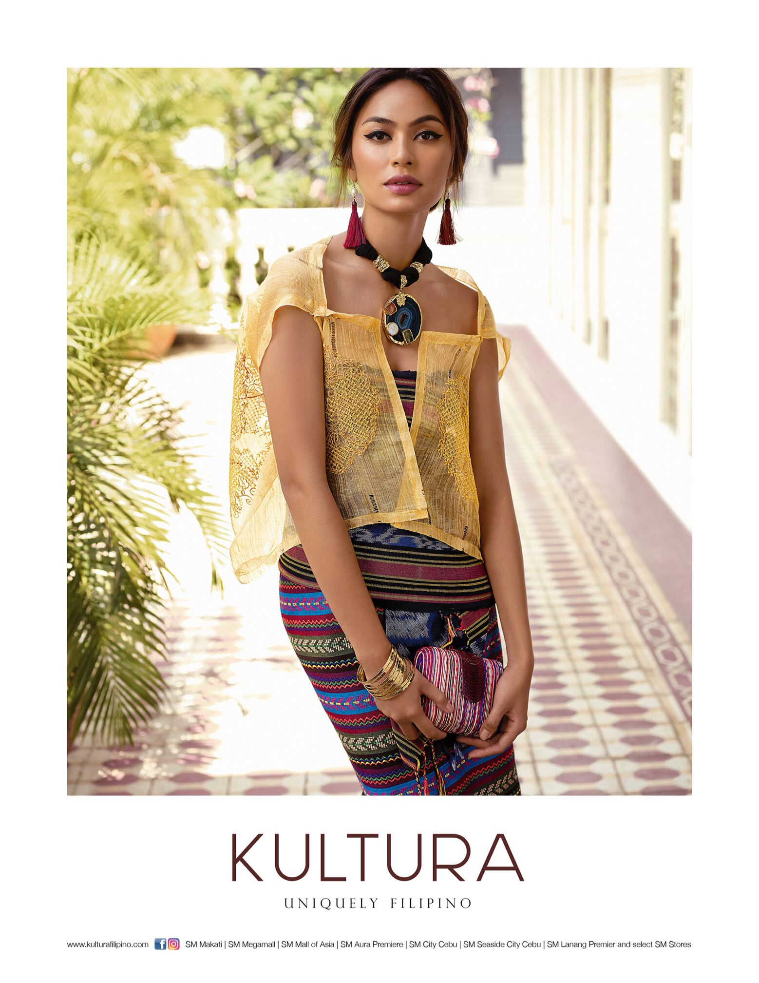Pinasilk Top With Tausug Top And Ethnic Print Skirt -7229