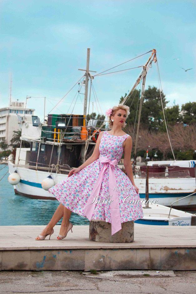 Entdecke lässige und festliche Kleider: romantisches Petticoatkleid Stella made by Atelier Belle Couture 50er Jahre Petticoatkleider Rockabilly Kleider via DaWanda.com