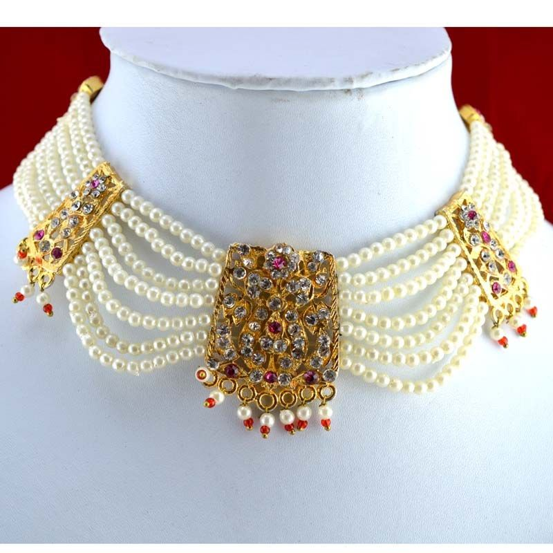 Traditional Rajputi choker known as \'chick\' necklace | Jewellery ...