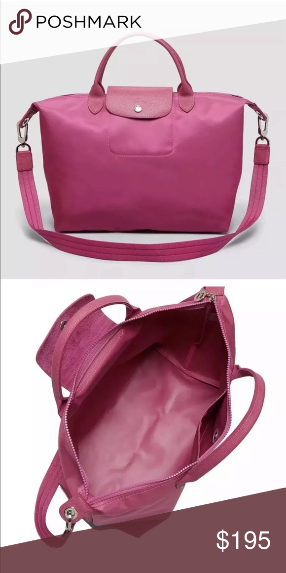 93873c278e Longchamp Le Pliage Neo Tote Medium Crossbody Pink NWT Authentic Longchamp  Le Pliage 'Neo'