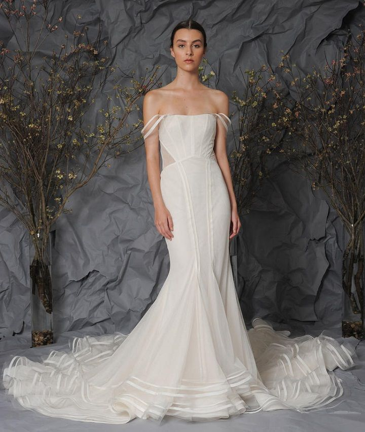 Austin Scarlett Bridal 2017 Wedding Dresses | Trumpet gown with a sheer back | fabmood.com #weddingdress #weddingdresses #bride #weddinggown #ballgown