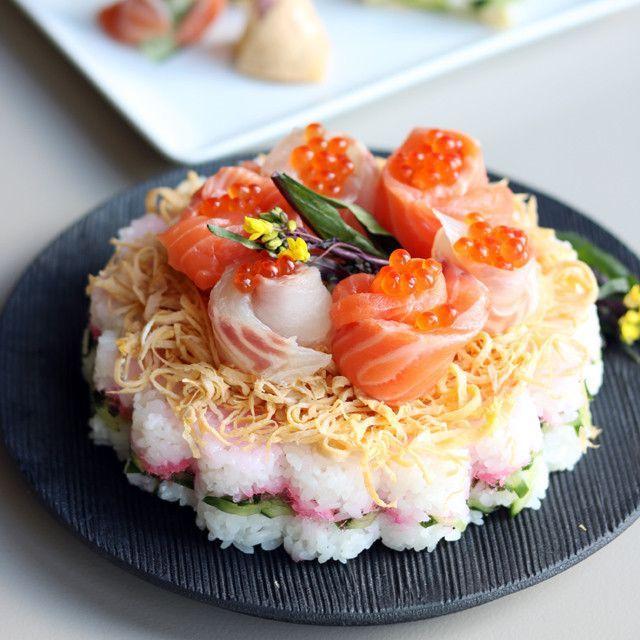 型がなくてもOK!「ちらし寿司ケーキ」のレシピアイデア集