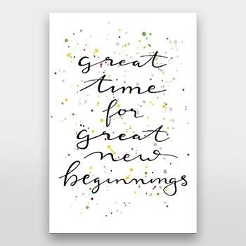Great Time For Great New Beginnings Handlettering Von