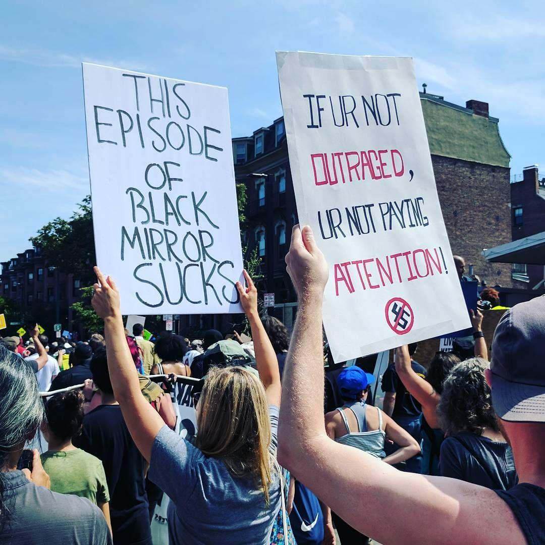 The Best Signs From The Massive Counterprotest In Boston
