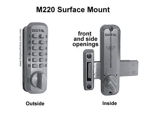 Lockey M220 Home Slide Bar Deadbolt Keypad Lock Pinterest Entry