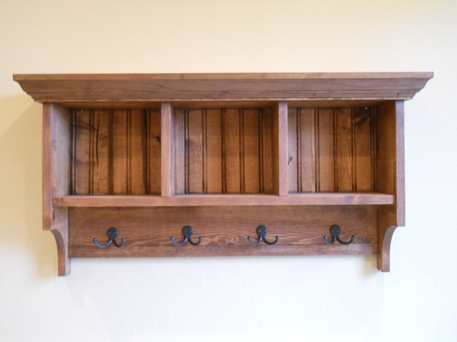 Cubby Shelf,Mud Room Shelf, Wood Cubby, Cubby Storage, Cubby Organizer.  $109.00, Via Etsy.