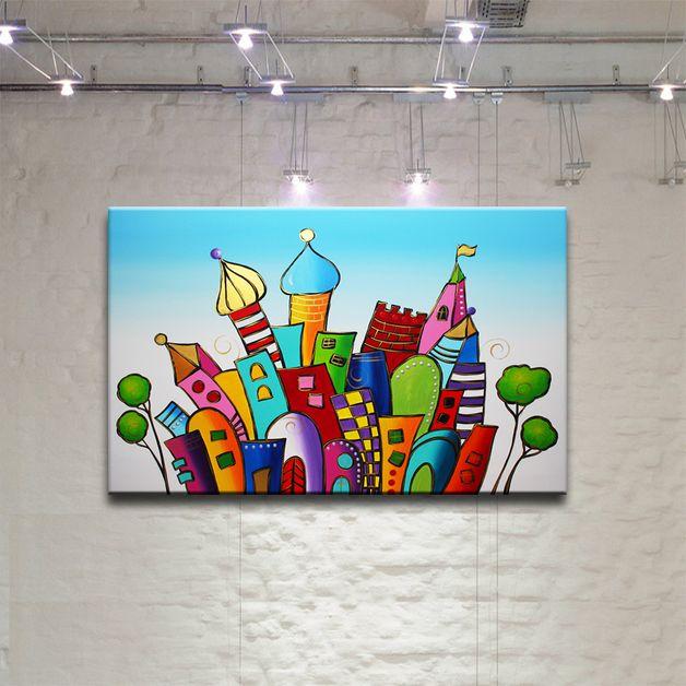Peinture tableau oeuvre art abstrait sur toile projets essayer pinteres - Toile imprimee abstrait ...