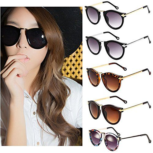 funoc retro vintage fashion unisex round arrow style metal frame sunglasses eyewear vtjunkies