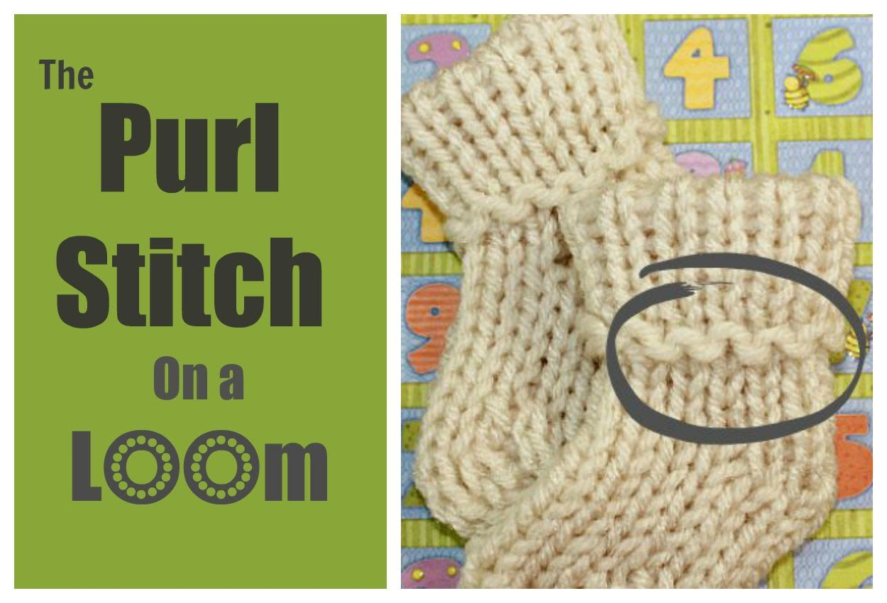Loom knitting stitch the purl stitch step by step for beginners loom knitting stitch the purl stitch step by step for beginners bankloansurffo Image collections