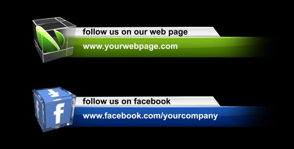 Social Media Lower Third Pack   Icons, Adobe and Facebook