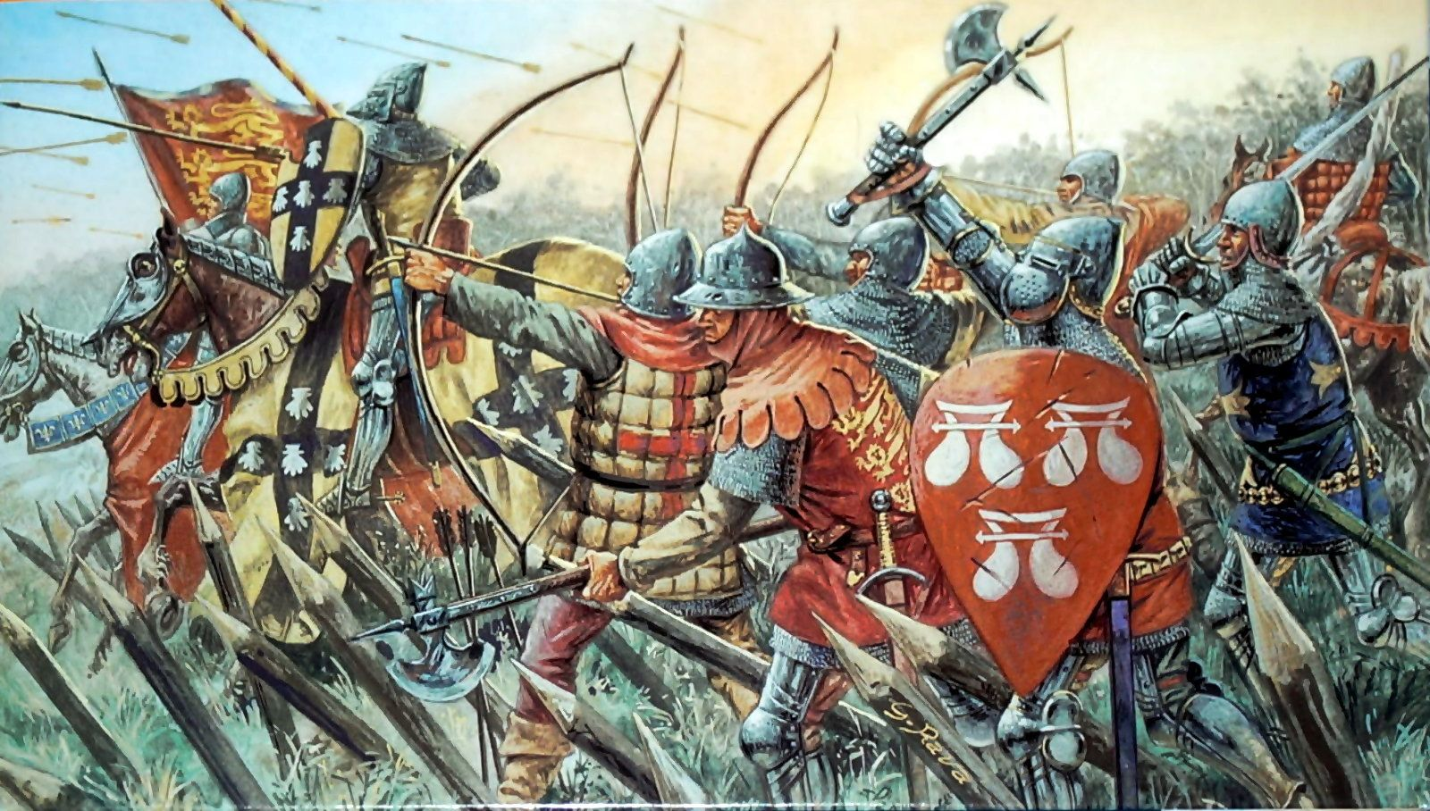 English Knights And Archers Hundred Years War By Giuseppe