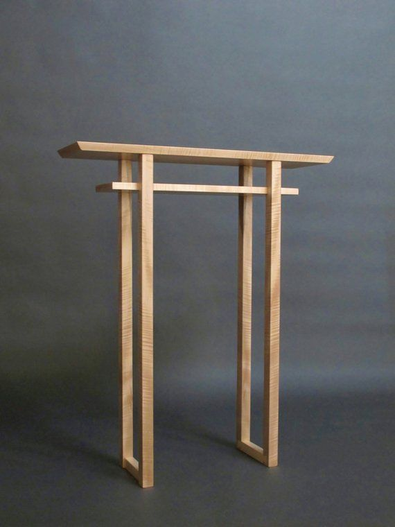 Narrow Altar Table Tall Console Small Side