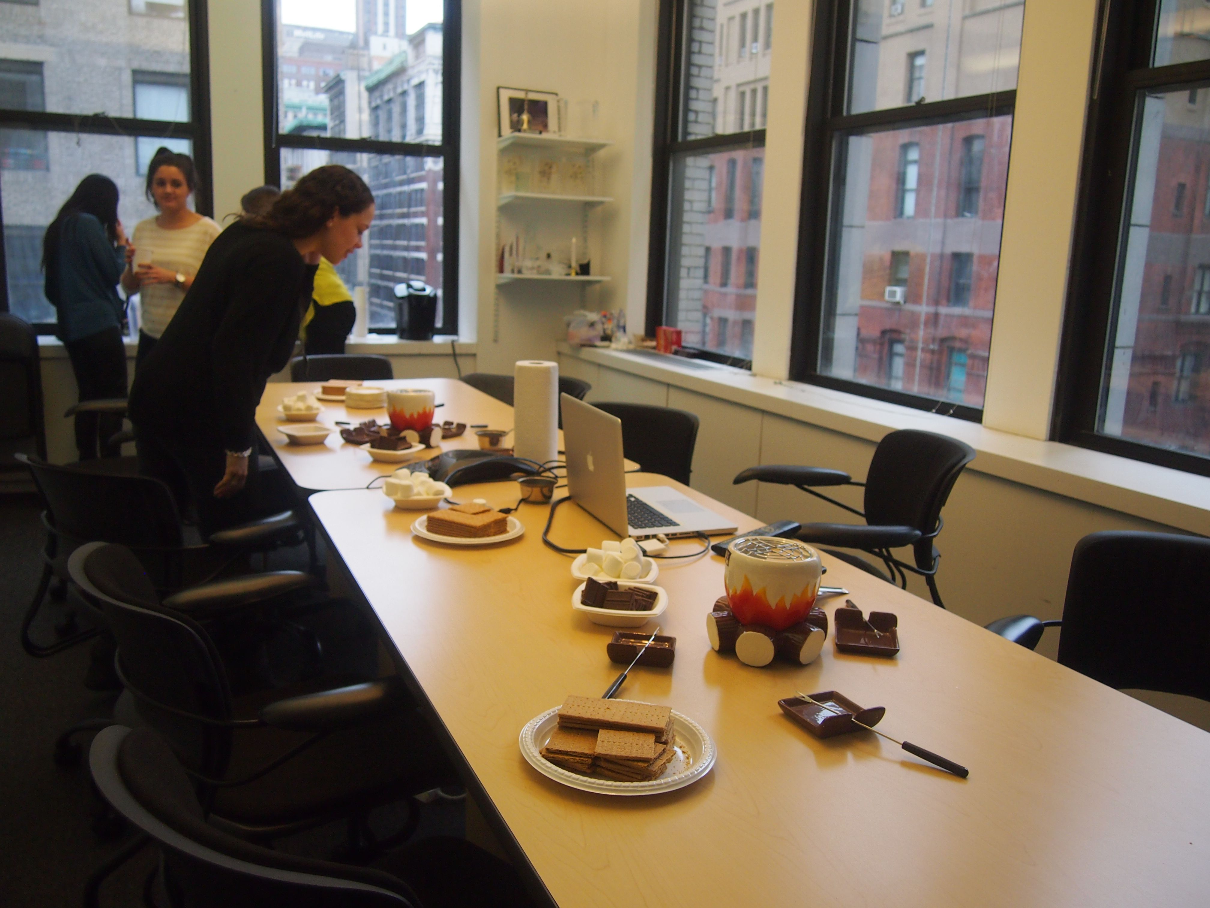 fun office activities friday afternoon treat smores in the office
