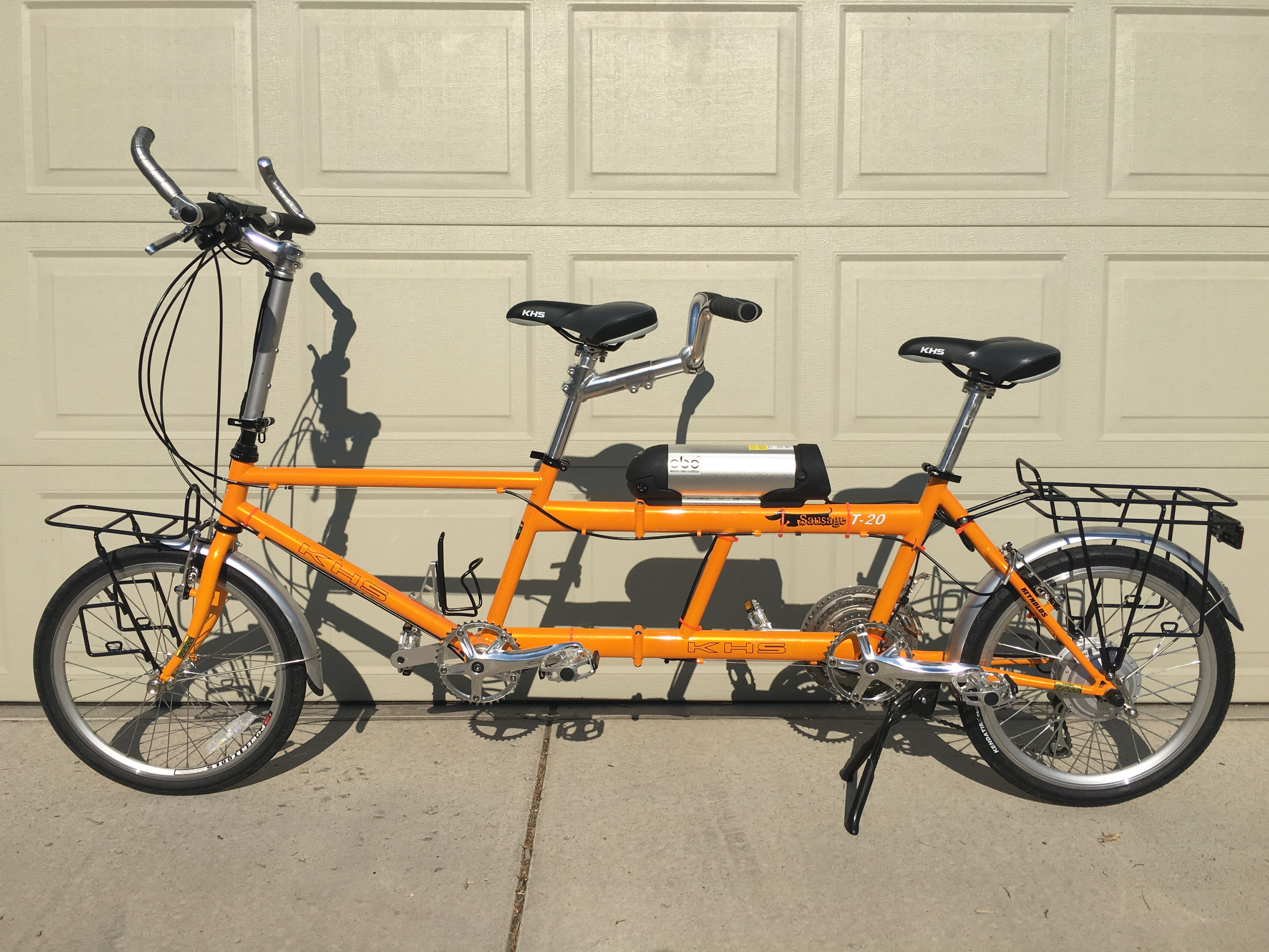 Ebo Phantom Electric Bike Kit Installed On A Khs T20 Sausage Dog Tandem Bike Kit Electric Bike Electric Bike Kits