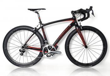 Salerno Full Carbon Road Bike. Campagnollo Super Record Ti 11 Speed Campy. 50-85mm Carbon Clinchers. XL