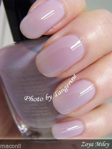 Zoya Miley Soft Pale Lavender Lilac Purple Sheer Jelly Nail Polish ZP432