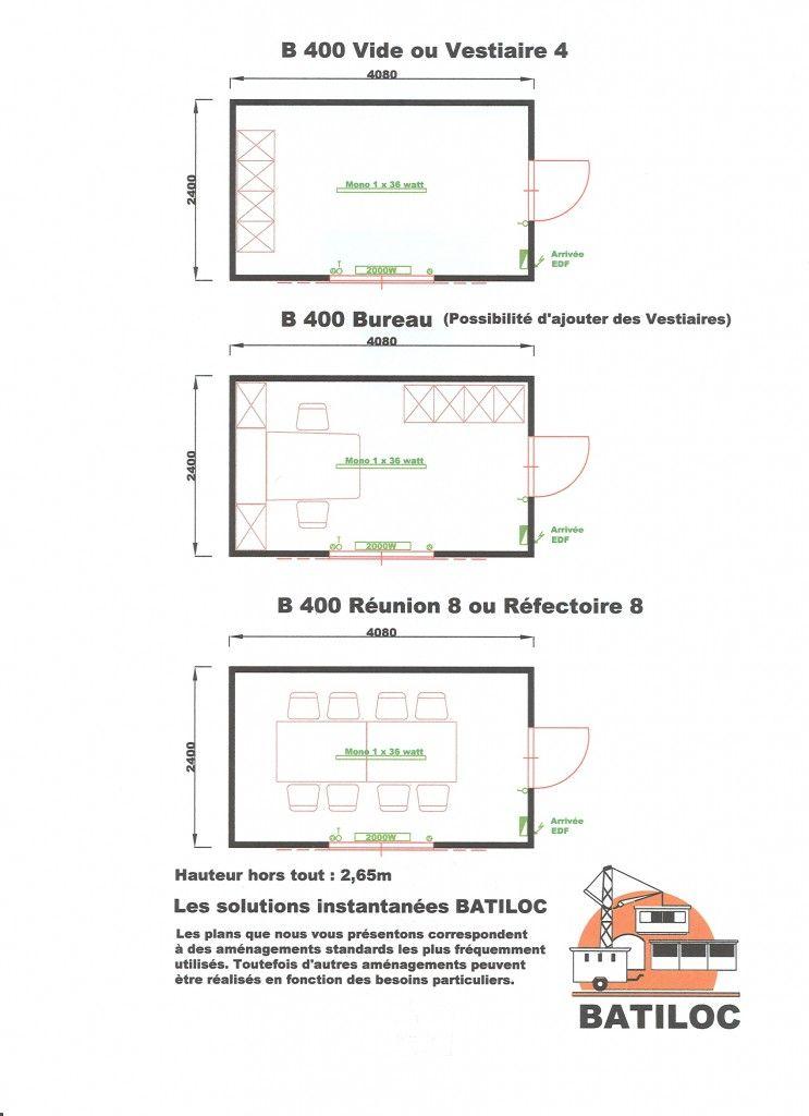 plan construction vestiaire et réfectoire batiment #modulaire