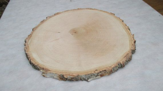 13 14 Inch Large Birch Wood Slice 13 14 Wood Slice Large Wood Slab Wood Platter Rustic Wed With Images Cake Stand Wedding Centerpiece Wood Slices Wood Platter