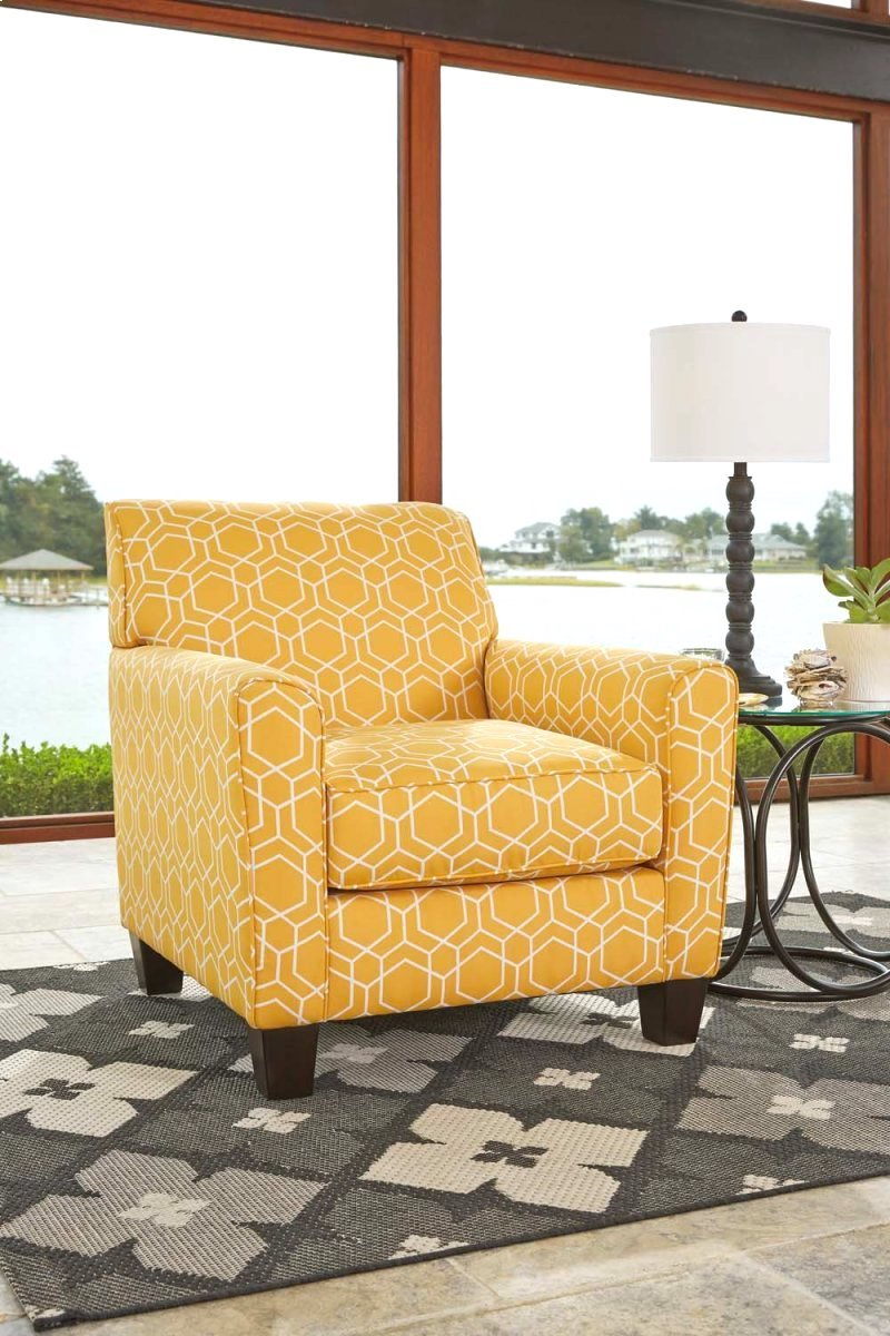 Ayanna Nuvella Accent Chair Geometric Accent Chair