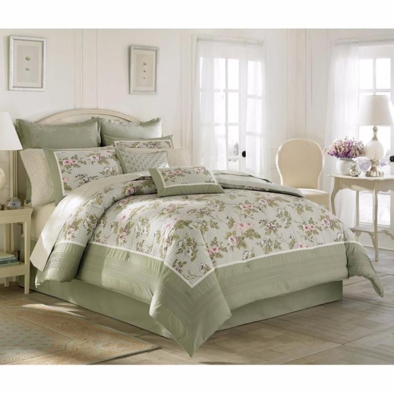 Sage Green Bedspreads King Size, Sage Green Bedding And Curtains