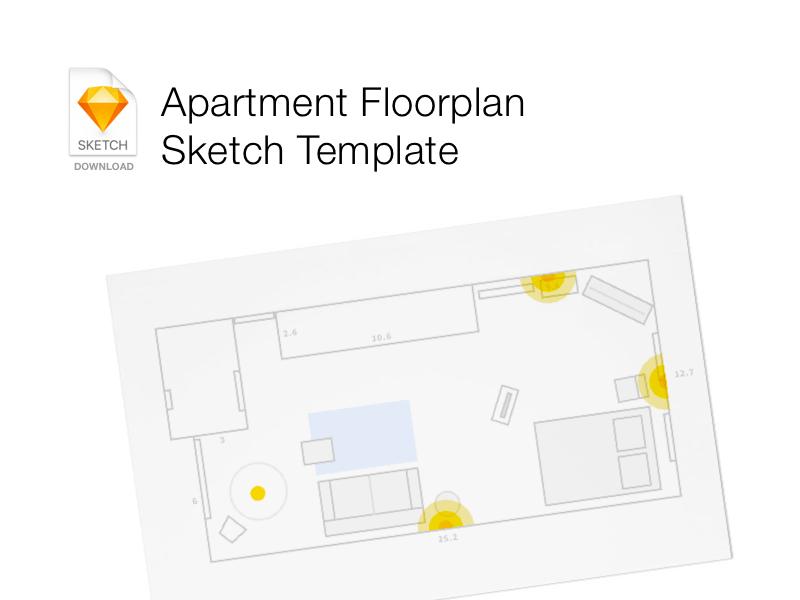 Floor Plan Template  Free Sketch App Resources