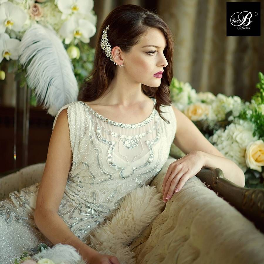 Ellie Crystal And Pearl Hair Comb Hair combs Pearls and Wedding