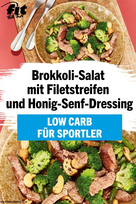Brokkoli-Salat mit Filetstreifen und Honig-Senf-Dressing Rezept - FIT FOR FUN