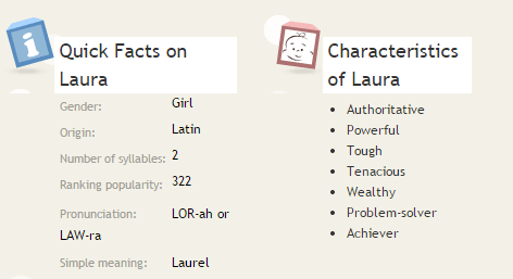 Laura - Baby Girl Name Meaning and Origin _ Oh Baby! Names