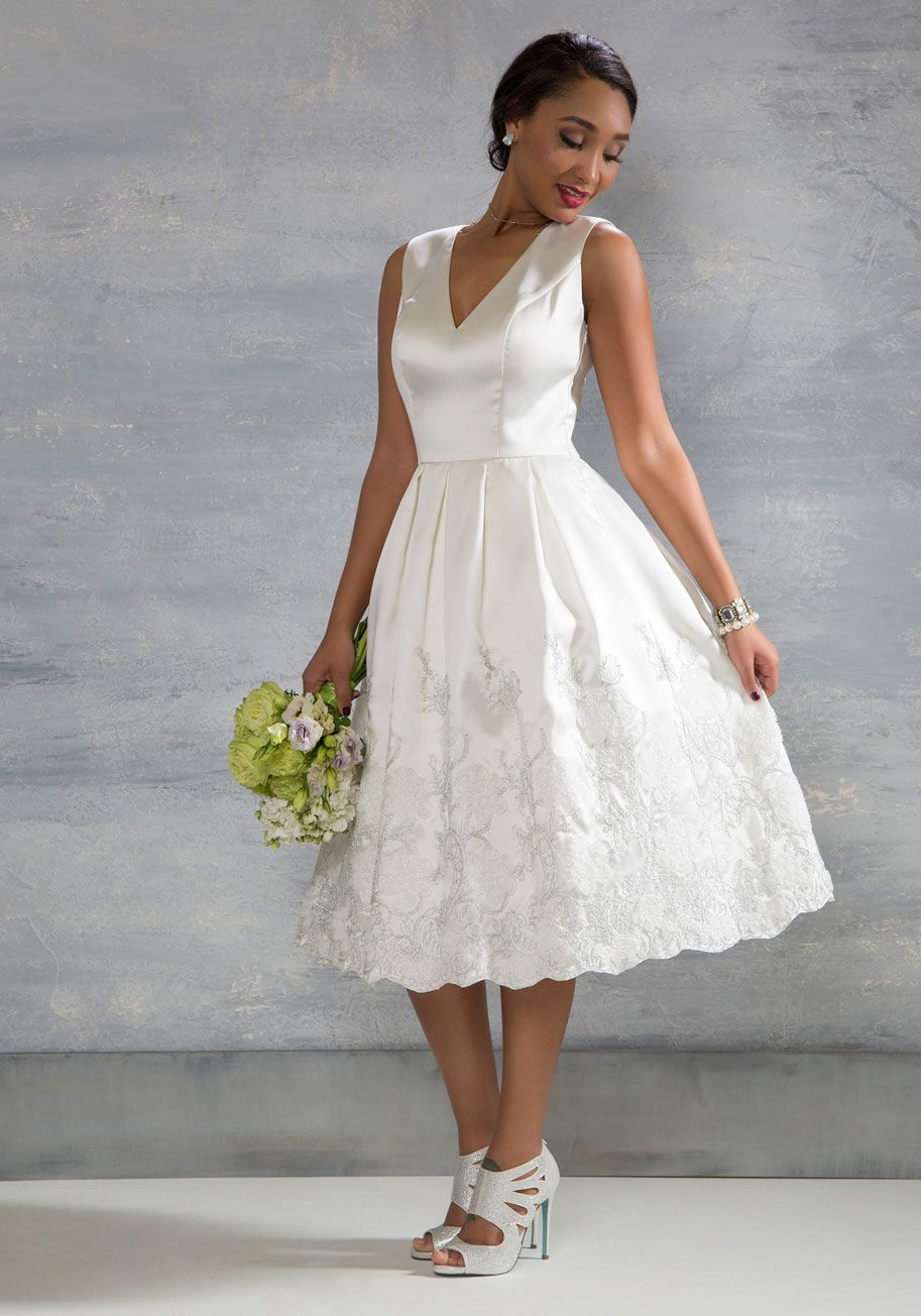 94c6af8c948 Here Comes the Stride Dress in Ivory