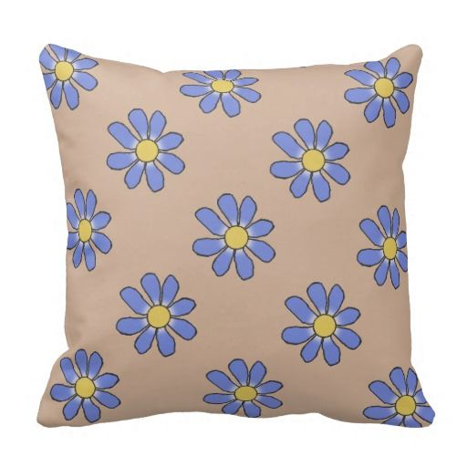 Blue/Pink Flowers 2 in 1 Pillow. Alternate with blue flowers on one side, pink flowes on the other side.