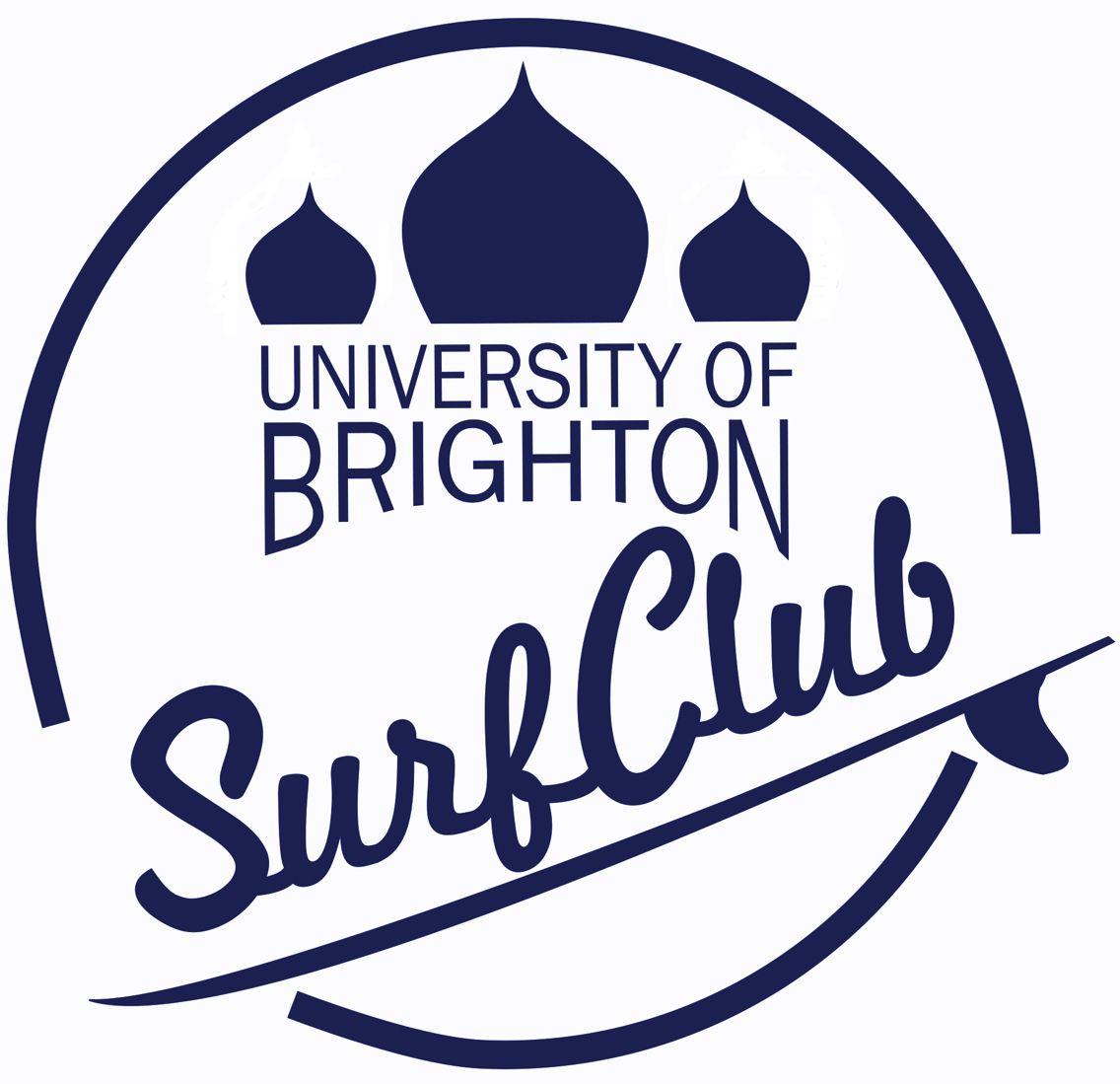 The University of Brighton Surf Club Logo.   Surfing   Pinterest ...
