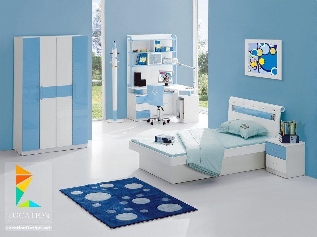 غرف نوم اطفال 2019 2020 أحدث موديلات غرف أطفال مودرن Blue Bedroom Design Modern Kids Bedroom Blue Bedroom