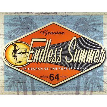 Amazon.com: Endless Summer - Genuine Metal Tin Sign 16W x 12.5H , 16x13 , 16x13: Home & Kitchen