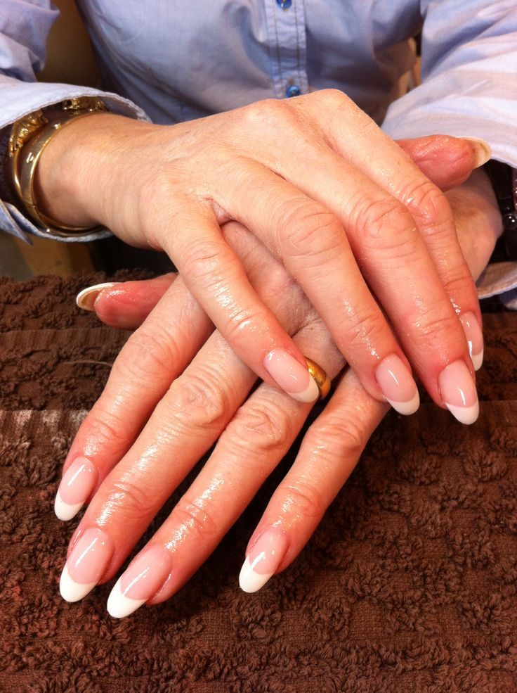 Long Nail Beds Almond Oval Shape Are The Most Natural Looking Strongest Nails Btw I M Also A Licensed Nail Tech Oval Nails French Nails Long Oval Nails