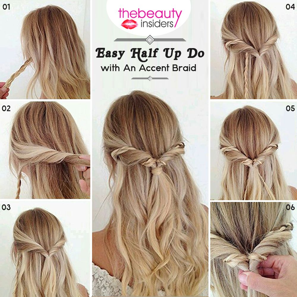 Get This Easy Half Up Do With An Accent Braid #HairStyle For This ...