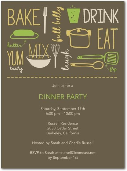 nice invitations Party Pinterest Celebrations, Event ideas - free printable dinner party invitations
