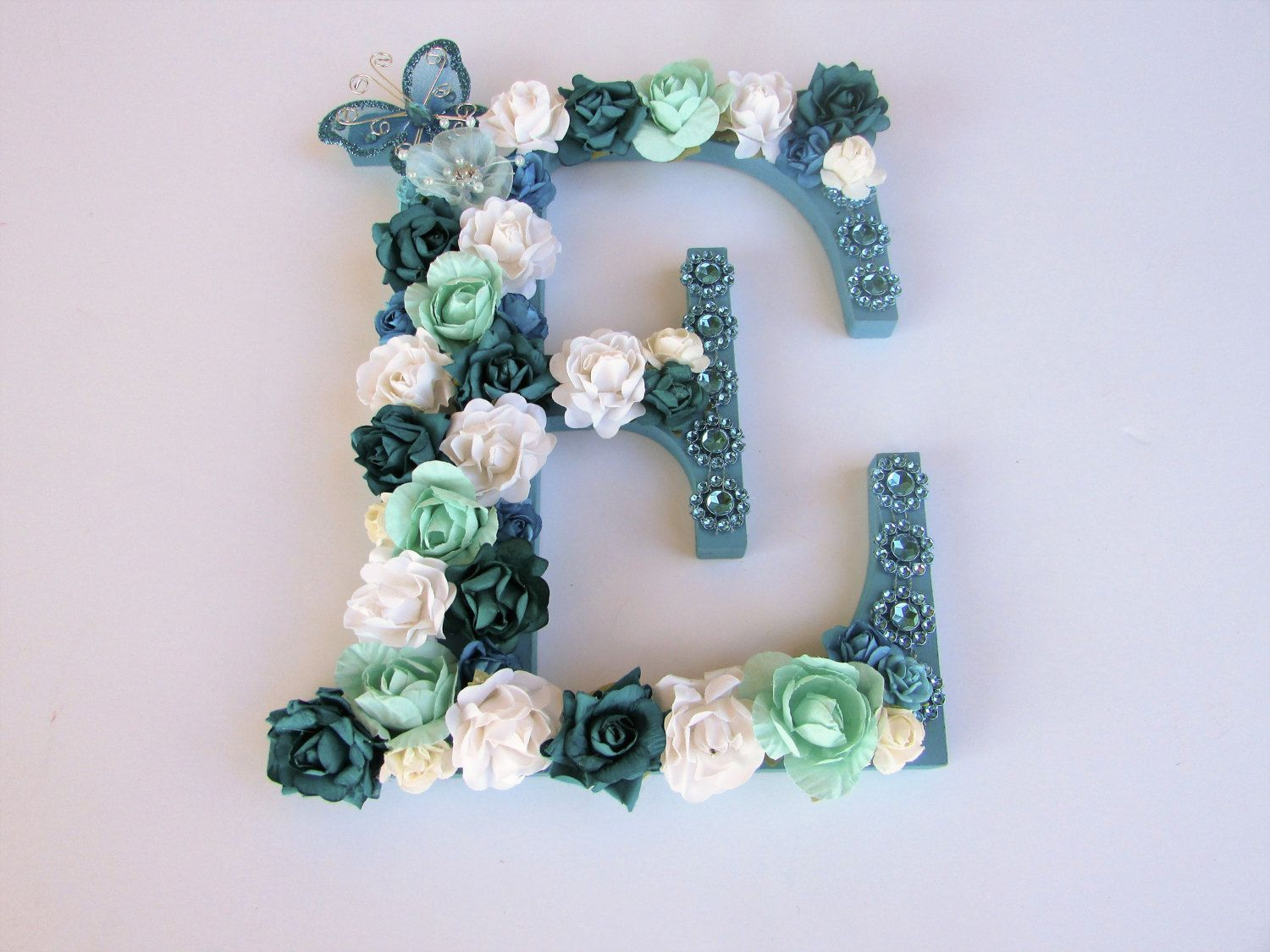 78c337f50dab Custom name letter - Name letter E - Flower name letter - Nursery name  letter - Birthday gift - Wedding decor - Personalized letters by  PreciousGiftsbyDiane ...