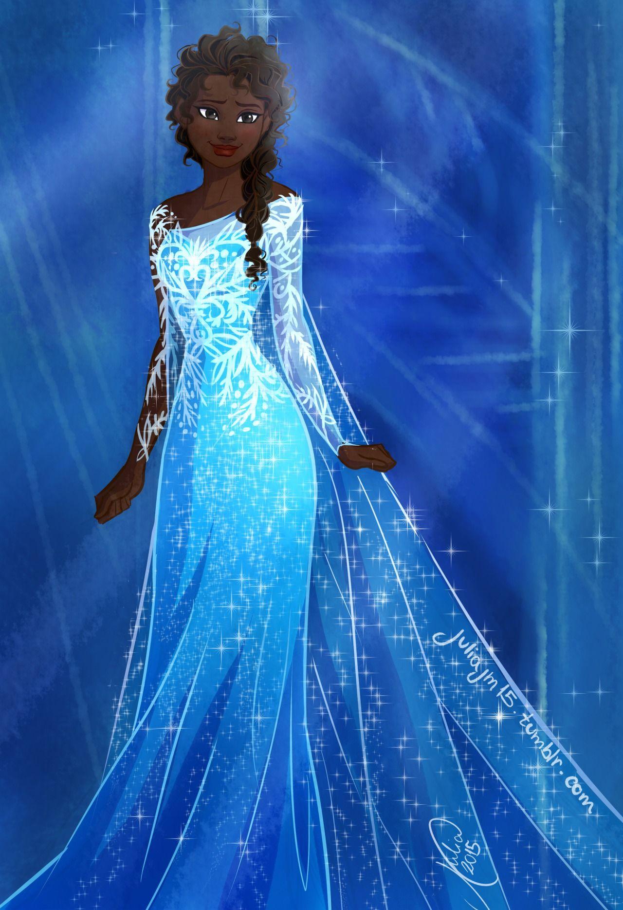 This Artist Created Beautiful Racebent Versions of Frozen