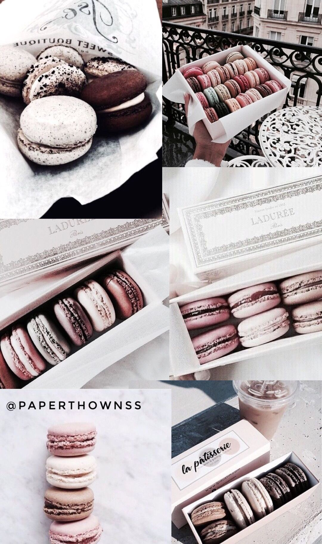 Macaron Wallpaper Collage By Paperthownss