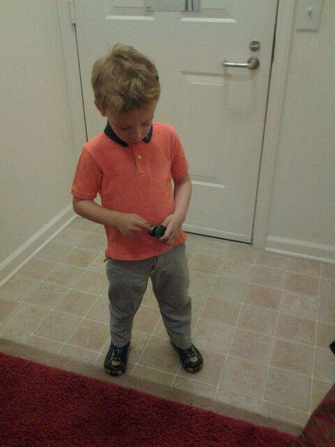 Rocking the batman boots!