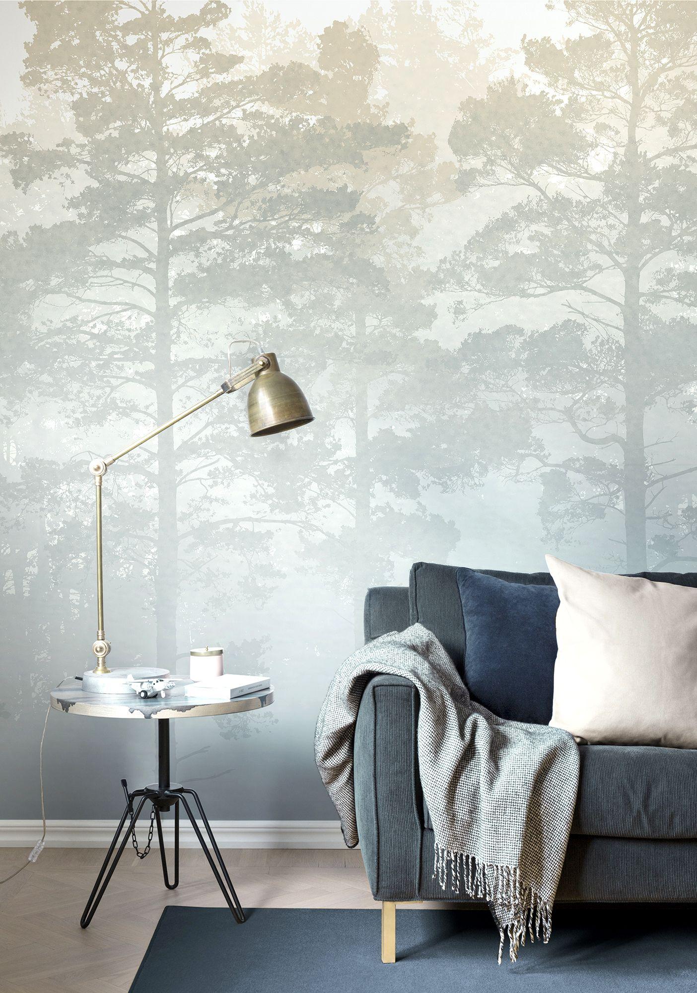 Misty Pine Forest by M. Stenströmer wallpaper wallmurals