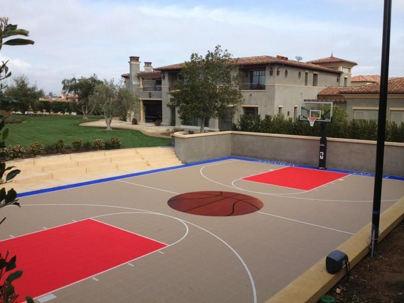 Backyard Basketball Court Hobby Pinterest Backyard