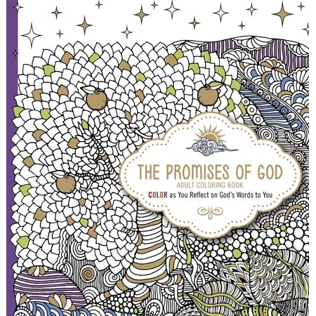 The Promises of God Adult Coloring Book (Paperback), Black