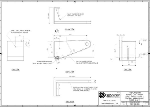 Fabplans car trailer airbag blueprint view parts pinterest airbag car trailer plans diy build your own lowering race car trailer malvernweather Gallery