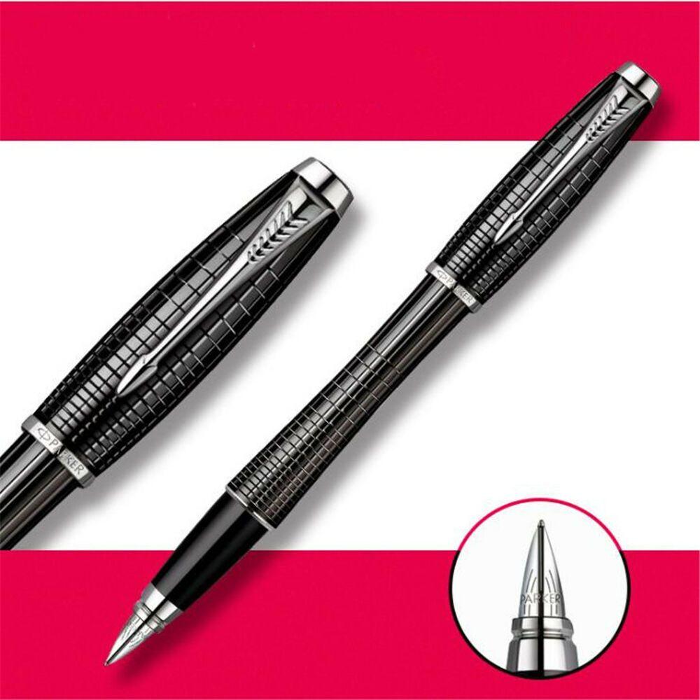 Perfect Parker New IM Grid Black Silver Clip 0.5mm Fine Nib Rollerball Pen