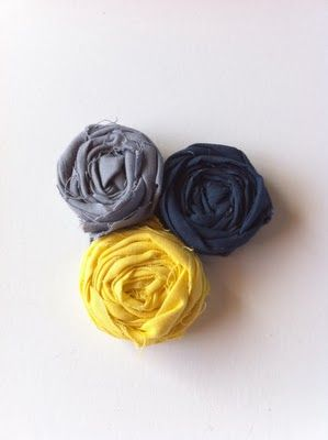 One Perfect Room: Fabric flower necklace and tutorial